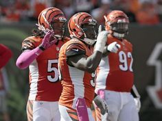 Defense quiets Chiefs offense in red zone. Photo: Cincinnati Bengals defensive end Wallace Gilberry gestures the the Chiefs sideline after a tackle for loss led to another Chiefs field goal. The Enquirer/Sam Greene