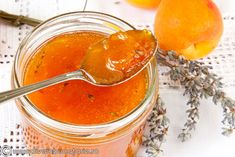 Sweet apricot and peach and lavender Summer Recipes, New Recipes, Cooking Recipes, Romanian Food, Romanian Recipes, Mousse, Jam And Jelly, Preserving Food, Cravings