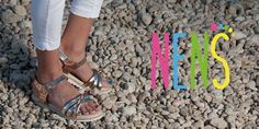 NENS Childrens Shoes SS17 Lovely leather sandals with metalized leather for the latest in Fashion