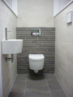 Space Saving Toilet Design for Small Bathroom - Home to Z Toilet Tiles, Toilet Sink, New Toilet, Guest Toilet, Space Saving Toilet, Small Toilet Room, Bad Inspiration, Bathroom Inspiration, Bathroom Design Small