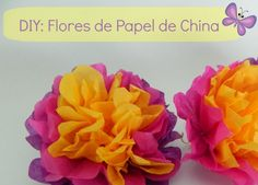 DIY - Flores de Papel de China