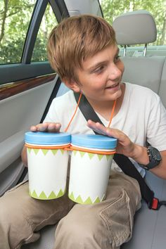 DIY Musical Instruments For Kids - Make  Bongos From To- Go Soup Containers