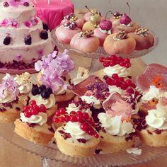 Lily Vanilli berry and cherry cupcakes