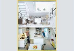 La cucina Saari con piani di marmo di Carrara dell'azienda finlandese Pinjasto