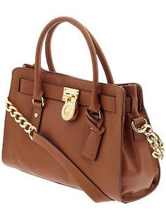 "Camel canvas staple. All day, every day. MICHAEL by Michael Kors Hamilton 18K EW Satchel in ""Luggage."" $298 USD at michaelkors.com"