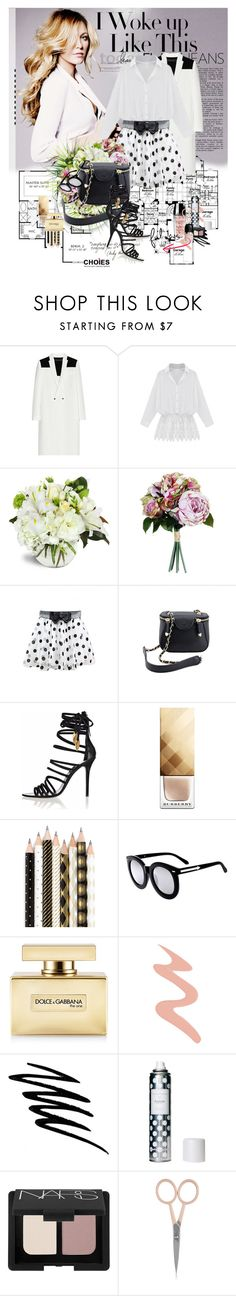 """Daily look with Choies!"" by marina-marry ❤ liked on Polyvore featuring Paul Frank, Roland Mouret, Burberry, Chronicle Books, Dolce&Gabbana, Too Faced Cosmetics, Noir Cosmetics, Hershesons, NARS Cosmetics and Anastasia Beverly Hills"