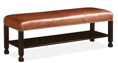 saddle leather bench