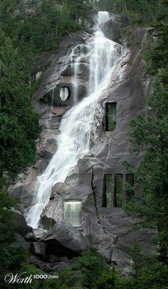 Google+waterfall house (Fallingwater)