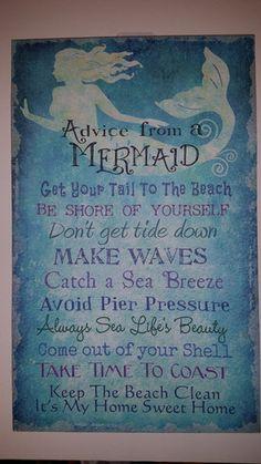 Mermaid Advice Sign