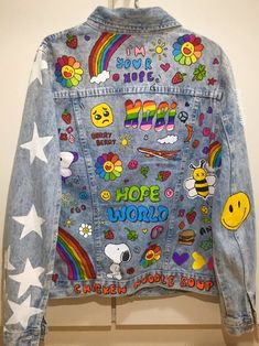 Rainbow Aesthetic, Retro Aesthetic, Aesthetic Clothes, Outfits For Teens, Girl Outfits, Cute Outfits, Fashion Outfits, Diy Fashion, Custom Clothes