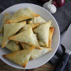 Tapas, Ham And Cheese, Spanakopita, Greek Recipes, Feta, Appetizers, Lunch, Snacks, Baking