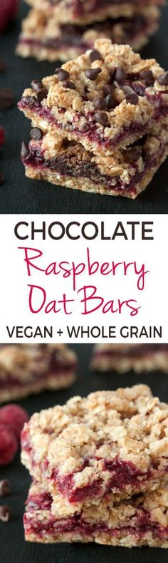 Chocolate Raspberry Oat Bars – 100% whole grain (but can also be made with all-purpose flour) with vegan and dairy-free options. Please click through to the recipe to see the dietary-friendly options.