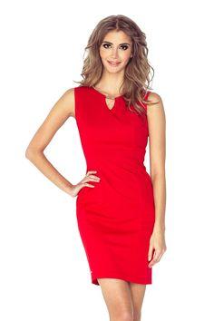 Morimia Elegant dress with buckle - RED MM Latest Fashion Trends, Trendy Fashion, Fashion News, Day Dresses, Summer Dresses, Elegant Dresses, Formal Dresses, Fashion Company, Fashion Addict