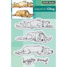 Penny Black Cling Rubber Stamp - Doggone Sweet