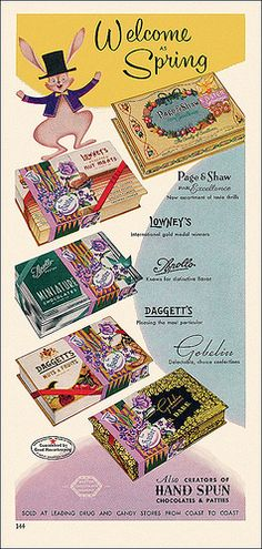 Easter Candy Ad, c1956