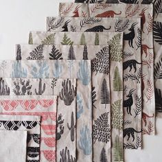Can't wait to debut my new collection this weekend at Saturday through Tuesday in Handmade Designer Maker, booth /// Shop update coming soon! Textile Patterns, Textile Prints, Print Patterns, Stamp Printing, Printing On Fabric, Fabric Design, Pattern Design, Stamp Carving, Fabric Stamping