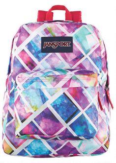 Jansport Glowbox Superbreak backpack from delias. Stylish Backpacks, Cute Backpacks, Girl Backpacks, Back To School Party, School Parties, Sac Jansport, Back To School Backpacks, Backpack For Teens, Find Girls
