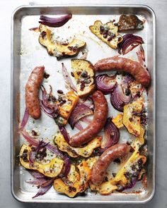 The sweetness of squash and dried cherries is the perfect counterpoint to savory sausages.