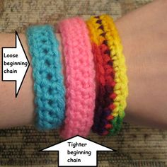 Awareness support bracelet chain (Free pattern)