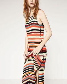 MULTICOLORED CROCHET DRESS-View All-DRESSES-WOMAN   ZARA United States