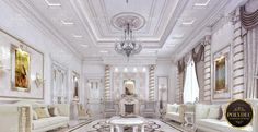 POLY DESIGN LUXURY RICH INTERIOR VILLA  Luxury  Rich Villa designed by Poly Dieb architecture and design team.  The walls which are finished with the shades of white are combined with the modernized Poly Decorative elements. In our classic designed Poly pilaster columns, we combine the magnificent color of gold. For more details :   90 216 306 00 72  /  971 4 586 9140  You Imagine, We Can Make It  Polidec Luxury   Exterior Design    #villa #polidec #polyurethane #polidecluxury #qatar #wall Perfect Image, Perfect Photo, Love Photos, Cool Pictures, Villa Design, Shades Of White, Exterior Design, Luxury, Architecture
