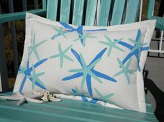Twinkle twinkle little starfish pillow lumbar 15x20 by crabbychris, $38.00