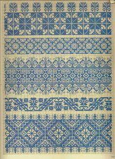 folk cross stitch pattern