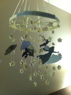 Peter Pan Baby Mobile: Printed Peter Pan templates online, drew clouds ...
