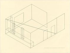 MoMA | The Collection | Fred Sandback. Installation Drawing from Dwan Gallery. (1969)