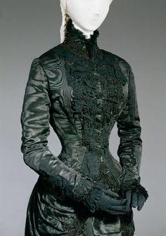 Black court dress of Empress Elisabeth Vienna about 1885