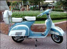 1965 VBC Vespa Super- Sky Blue & White