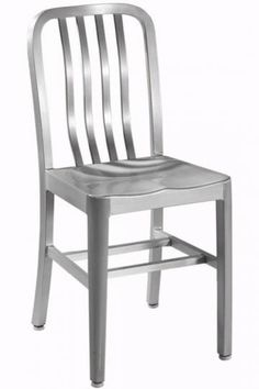 Sandra Side Chair with Aluminum Seat