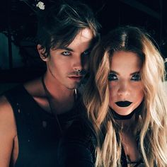 Pin for Later: All the Celebrity Halloween Costumes of 2015 Tyler Blackburn and Ashley Benson as Vampires