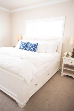 DIY king bed plans Costs about 500 to make Looks just like one I