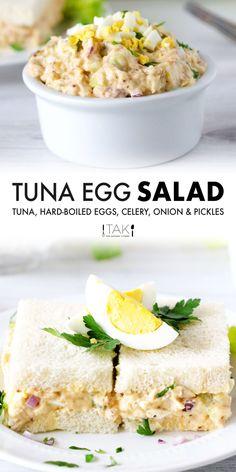 Tuna Egg Salad, Healthy Tuna Salad, Easy Egg Salad, Tuna Salad Sandwiches, Healthy Tuna Sandwich, Tuna Sandwich Recipes, Crab Salad, Quinoa Salad, Best Tuna Salad Recipe