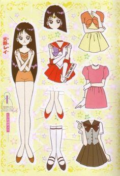 (⑅ ॣ•͈ᴗ•͈ ॣ)♡                                                             ✄Sailor Mars / Rei - Paper Dolls