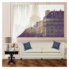 Paris apartment by lj-case on Polyvore featuring polyvore, fashion, style, WALL, Pacific Coast, Home Decorators Collection, Bandhini Homewear Design, Laura Ashley and clothing