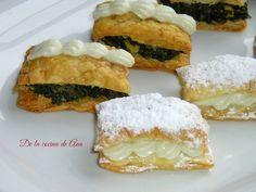 De la cocina de Ana: Bocaditos de Hojaldre, con Crema de Roquefort y con Espinacas