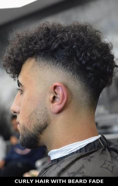 Go for this magnificent Curly Hair with Beard Fade is trending right now! Simply click here to view these 22 most stylish beard fade haircuts and ways to style it right. // Photo Credit: @barbermour on Instagram Latest Hairstyles, Hairstyles Haircuts, Stylish Beards, Beard Fade, Rugged Look, Beard Styles For Men, Fade Haircut, Photo Credit, Curly Hair Styles