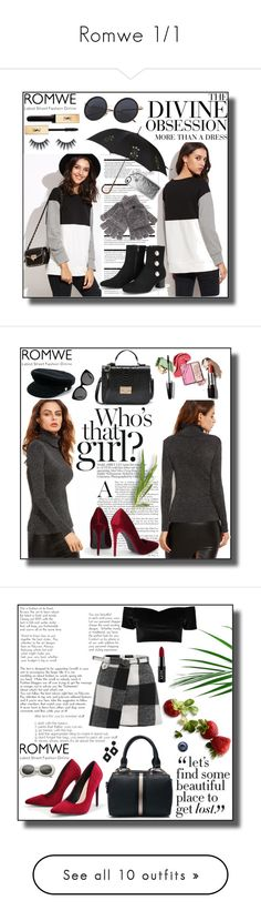 """""""Romwe 1/1"""" by dinna-mehic ❤ liked on Polyvore featuring Arche, Vera Wang, Yves Saint Laurent, Alexander McQueen, Steve Madden, Casetify, romwe, Manokhi, Gucci and Boohoo"""