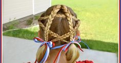 Locks and Locks of Hairstyles: Quick and Easy Video Tutorials: Patriotic Hairstyle, 4th of July Braided Star