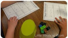What's under the cup? Use for a subtraction center