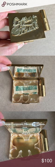 💄💰VINTAGE COLLECTORS MONEY & LIPSTICK HOLDER💰💄 One of the coolest vintage pieces I've seen! Holds your coins, money, & lipstick for a coffee break! A must have, the perfect collectors piece❤ Vintage Accessories