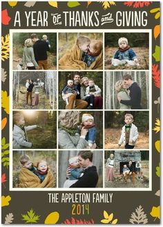 Festively Falling - Thanksgiving Photo Cards - Hello Little One - Dark Gray - Gray : Front