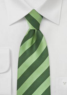 Krawatte grün grasgrün Streifenmuster