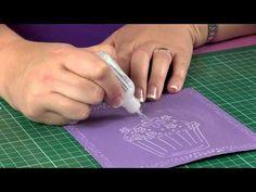 Sara Davies for Crafter's Companion - Embossalicious Folders : Birthday Cupcake - YouTube #video #tutorial