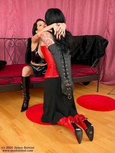 Kneeling before her Mistress