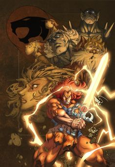 Great poster of my favorite cartoon from the 80's, Thundercats by deffectx