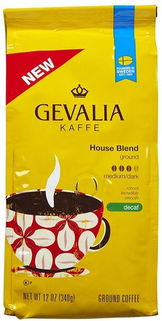 Gevalia Premium House Blend Decaf Coffee-12 oz * Want additional info? Click on the image.