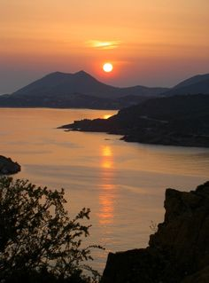 Sunset in Sounion, Greece